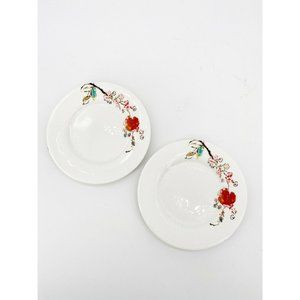 Lenox Chirp Tidbit Bread Saucer Party Plate Set 2